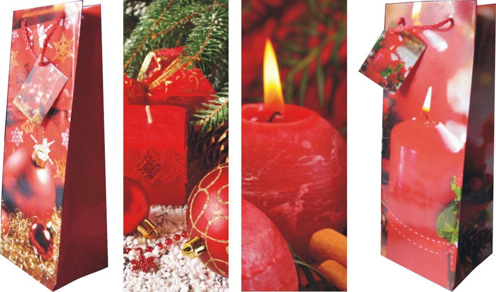 Bilder zu 12 Flaschen Geschenktaschen Geschenktüten, Weihnachten 4 ...