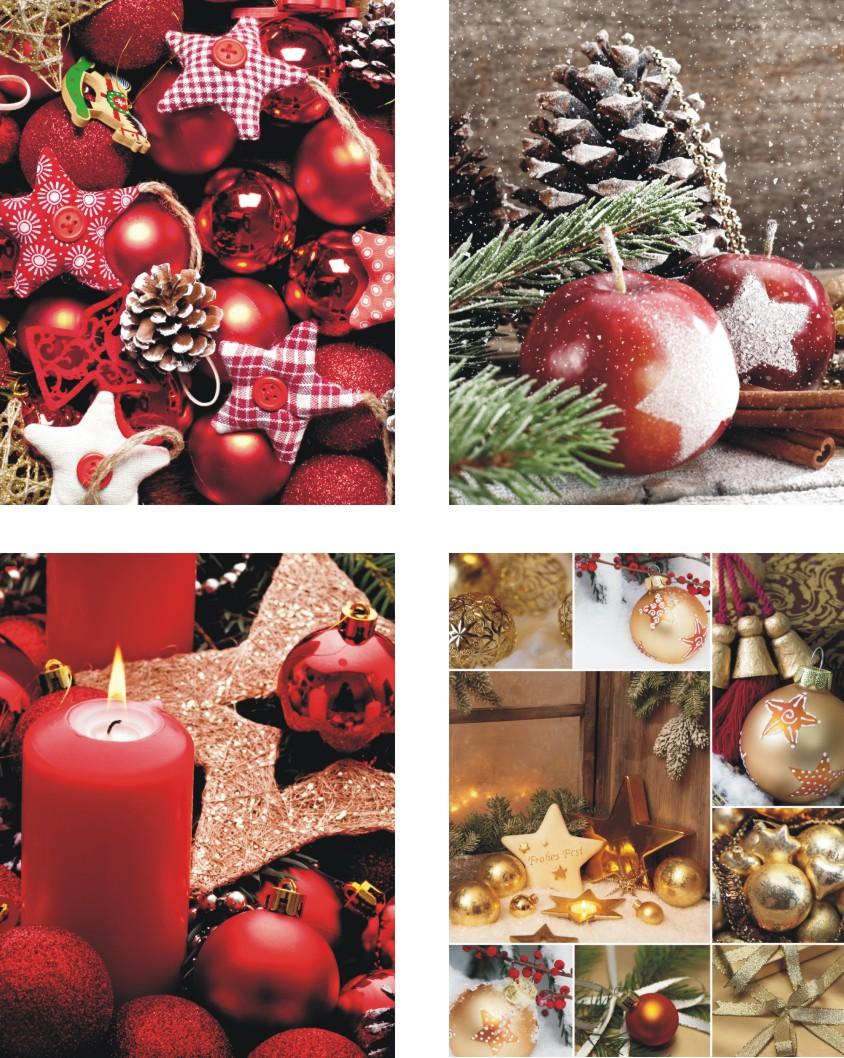 Bilder zu 12 Geschenktaschen medium,Geschenktüten Weihnachten, 4 ...