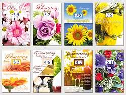 40 Glückwunschkarten Geburtstag, Geburtstagskarten Mit Drehzahlen TOP!