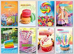 50 Glückwunschkarten Geburtstag, PREMIUM Geburtstagskarten Grusskarten NEU!