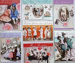 NEU! 50 NEU Glückwunschkarten Grusskarten GUTSCHEIN PREMIUM